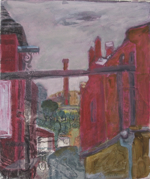 Kulturbrauerei II, 2006, Aquatinta, übermalt, 29,5x24,8 cm