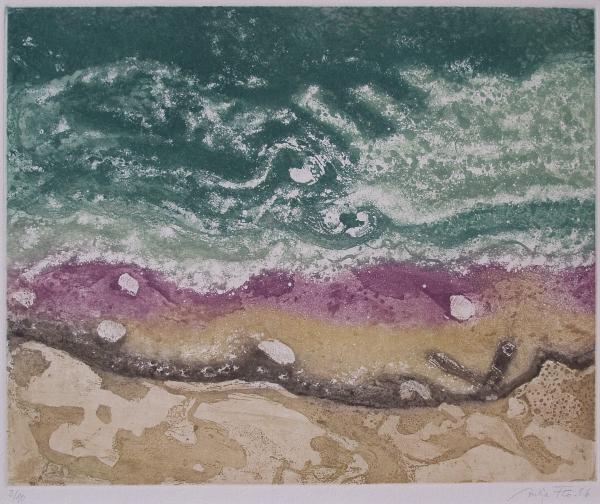 Steilküste an der Ostsee, 2006, Farbaquatinta, 30x39 cm
