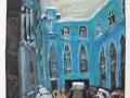 Hackesche Höfe im Winter, 1992, Aquatinta mit Gouache übermalt, 50x40cm