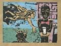 Preciosa und der Wind (zu den Zigeunerromanzen von F. Gacia Lorca), 1999, Farbholzschnitt