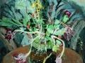 Der Strauss nach dem Fest, 1978, Hinterglasmalerei, 45x50 cm