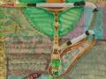 Wasserpfeife, 2010, Hinterglasmalerei, radiert und collagiert, 50x40 cm