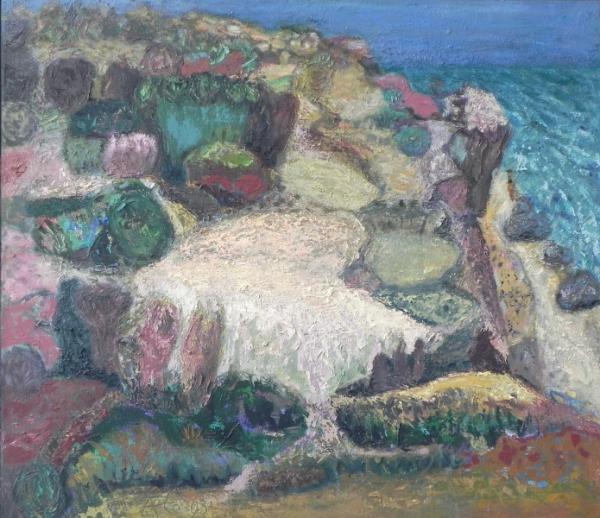 Althäger Steilküste, 2003, Öl, Leinwand, 70x80 cm