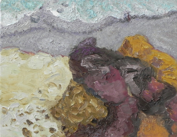 An der Steilküste bei Althagen, 2012, Öl, Leinwand, 35x45 cm