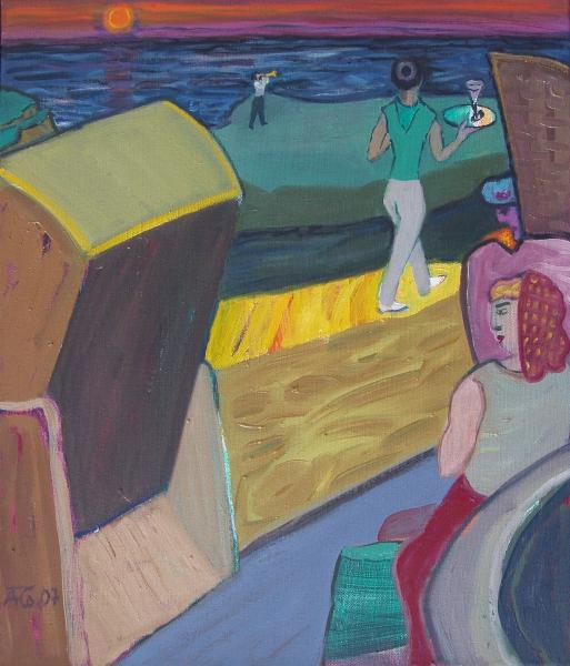 Abend am Meer, 2007, Öl, Leinwand, 70x60 cm
