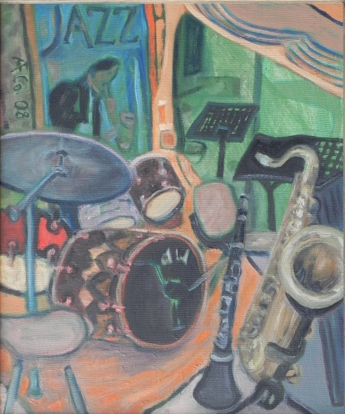 Jazzfest - Jazz Is, What I'm Living For, 2008, Öl, Leinwand, 60x50 cm