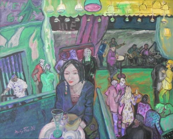 Jazzfest - Koch und Kellnerin, 2008, Öl, Leinwand, 80x100 cm