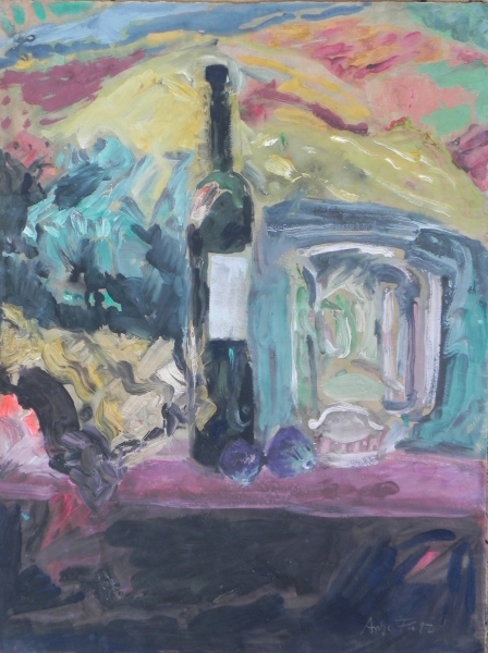 Stillleben in Colle Verde, 1992, Gouache, 62x48 cm