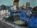 In der blauen Stunde, 1999, Öl, Leinwand, 80x100 cm
