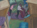 Jazzfest - Bei Buhne 12, mit grünem Hut, 2008, Öl, Leinwand, 50x60 cm