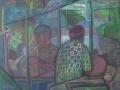 Jazz in den Arkaden, 2007, Öl, Leinwand, 70x90 cm