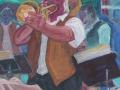 Jazzfest - Trompetensolo, 2007, Öl, Leinwand, 60x50 cm