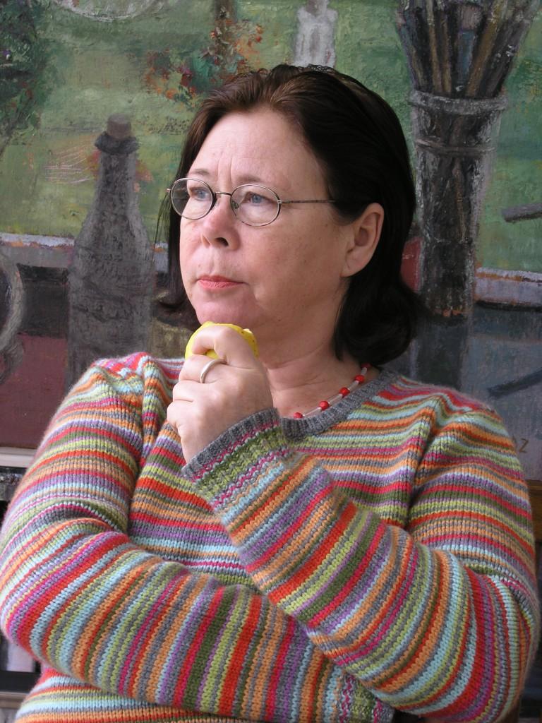 Antje Fretwurst-Colberg im Atelier