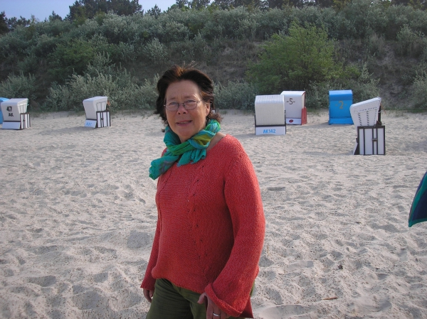 Antje Fretwurst-Colberg am Strand